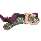 "Deluxe Comfort Microbead Body Pillow, 47"" x 7"" - Mooshi Squishy Soft - Prenatal Pregnancy Pillow - Full Body Side Sleeper - Body Pillow, Camouflage"