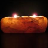 Natural Salt Candleholder - Himalayan Natural Crystal Salt
