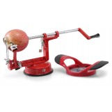 Perfect Peel Apple Peeler - Easy Clean Removable Commercial Grade Blade - Corer, Red - Apple Corer and Peeler
