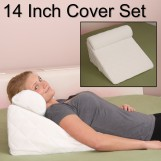 Deluxe Comfort Cover For Bed Wedge Pillow Set - 383 Thread Count - Hypoallergenic - Padded - Pillow Cover, White