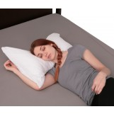 Deluxe Comfort Bow Tie Pillow with Cover - Polyester Fiber Fill - Cute Bow Tie Design - Head Neck Rest - Bed Pillow, White