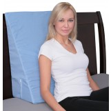 "Deluxe Comfort Bed Wedge, 24"" X 25"" X 12"" - Firm Medical Grade Foam - Lumbar Support - Specialty Medical Pillow - Body Wedge, Blue"