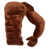 "Muscle Man Pillow  - Cute And Fun Hunky Husband Cuddle Companion - Boyfriend ""Ripped"" Body Pillow With Benifits - Unique Gag Gift Idea - Body Pillow, Brown Man"