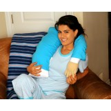 Boyfriend Pillow Microbead Companion Pillow - Cute And Fun Husband, Companion Or Cuddle Buddy - Super Soft Body Pillow With Benifits - Unique Gag Gift Idea - Body Pillow, Blue
