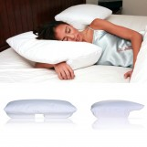 Better Sleep Pillow Memory Foam, 3.5 Inch Thick Foam - Patented Arm-Tunnel Design Improves Hand And Arm Circulation - Neck Pain Relief - Perfect Side And Stomach Sleeper Pillow - Bed Pillow, White