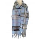 Cashmere Feel Plaid Scarves(New England Plaid) - Blue