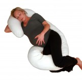 Deluxe Comfort Body Pillow - Total Body Length - Prenatal Pregnancy Pillow - Superior Comfort - Body Pillow, White