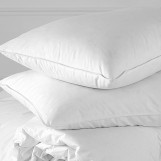 "Three Chamber Goose Down Bed Pillow, (30"" x 18"") Queen - 100% Cotton 400 Thread Count - Innovative Three Chamber Design, The Ultimate In Sleep Comfort"