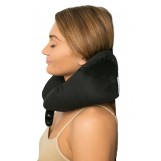 Fly Right Travel Pillow with Built-in Eye Mask - Best U Shaped Neck Support Pillows - Perfect for in an Airplane or Car, Black