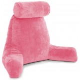 Husband Pillow Bedrest Reading & Support Bed Backrest With Arms Pink - Shredded Foam Reading Pillow - Bed Rest Pillow Makes A Comfy And Therapeutic Cuddle Buddy Any Time You Need One