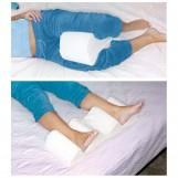 "Deluxe Comfort Leg Spacer Pillow, 21"" x 7.5"" x 4"" - Hypoallergenic Memory Foam - Medical Specialty Pillow - Side Sleeper - Leg Positioner Pillow,"