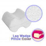 Deluxe Comfort Cotton Cover For Leg Spacer Pillow - 100% Cotton - Superior Comfort - Allergen-Free - Pillow Cover, White