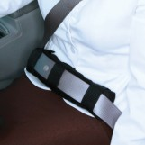 Deluxe Comfort Shoulder Seatbelt Pad - Memory Foam - Lightweight & Small Perfect for Travelers - Travel, Brown