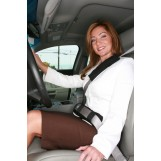 Deluxe Comfort Shoulder Seatbelt Pad - Memory Foam - Lightweight & Small Perfect for Travelers - Travel, Black