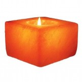 Himalayan Salt Square Candleholder - Negative Ions Products for Real Benefits of Health
