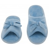 Womens Butterfly Bow Slip-On Memory Foam House Slippers, Size 5-6 - Open Toe - Pamper Your Feet With Cozy Fleece Memory Foam - Durable Non-Marking