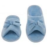 Womens Butterfly Bow Slip-On Memory Foam House Slippers, Size 7-8 - Open Toe - Pamper Your Feet With Cozy Fleece Memory Foam - Durable Non-Marking