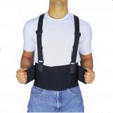 Back Brace - Industrial Back Support With Shoulder Straps - Medium