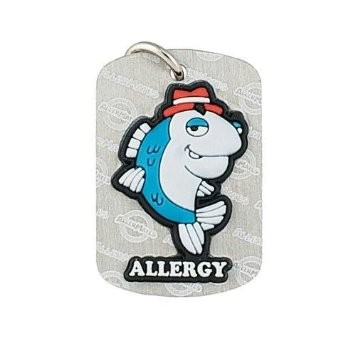 Allermates Dog Tags Detective Fin Fish Allergy