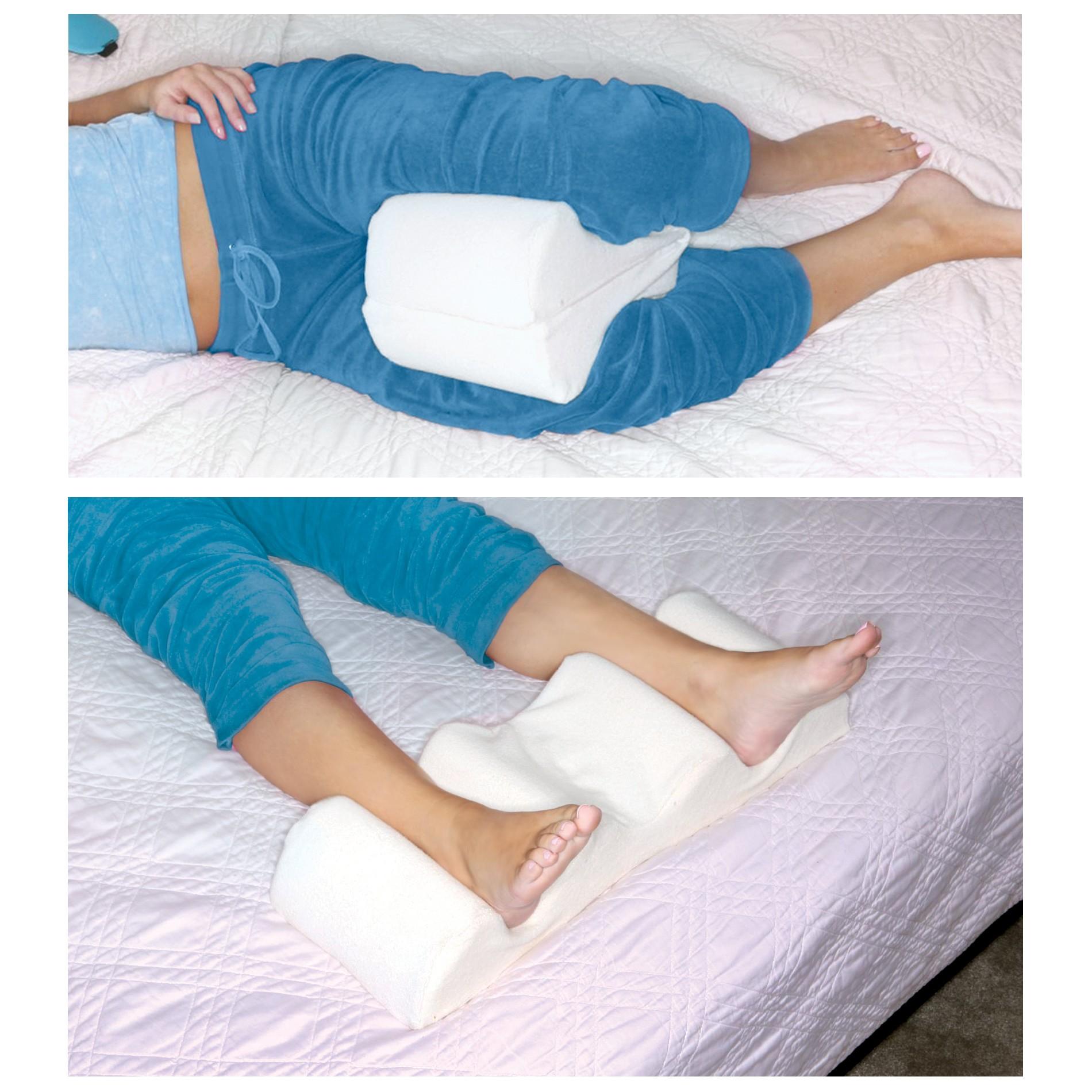 Leg Wedge Pillow Memory Foam Contour Leg Pillow That
