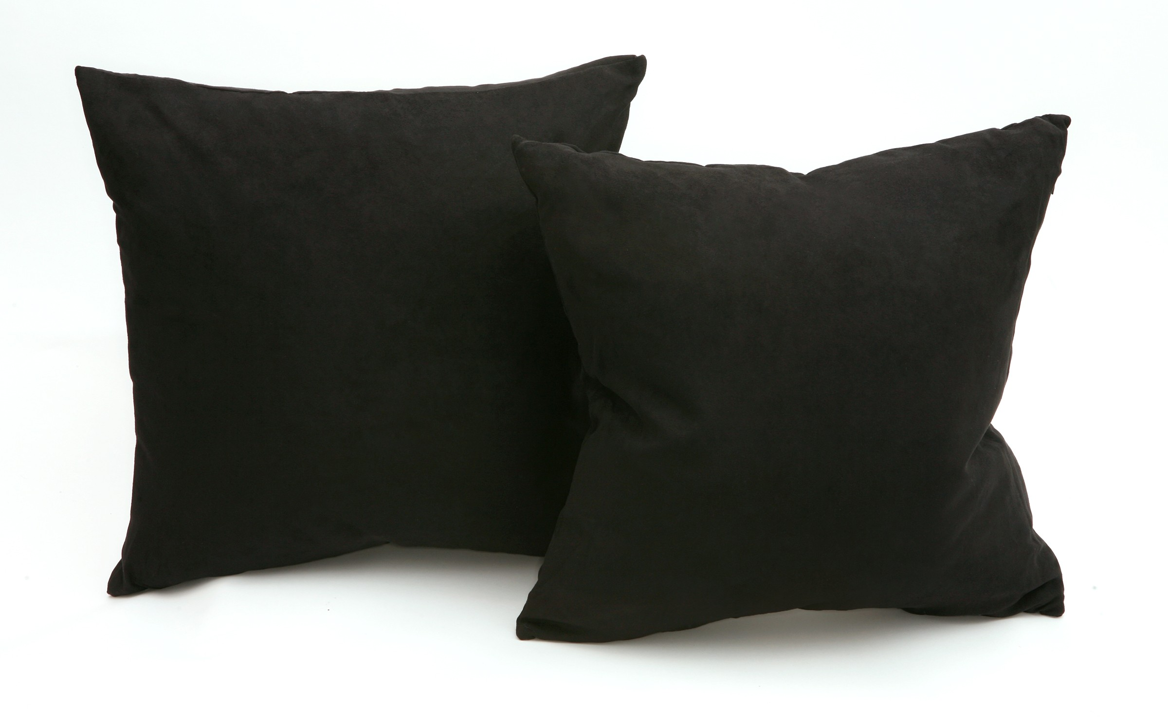 Down Throw Pillow Covers : Microsuede Deco Pillow - 18x18 - Feather And Down Filled Pillows - Pack of 2 - Black